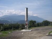 Pochodnia do spalania nadmiaru biogazu i gazów